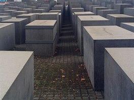 Mezi ulicemi Cora Berliner Strasse a Ebertstrasse byl před deseti lety postaven Holocaust Mahnmal - památník zavraždených Židů za 2. světové války. Mezi jednotlivými betonovými kvádry můžete procházet.